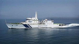 Latifa bint Mohammed Al Maktoum (II) - Offshore patrol vessel ICGS Samarth with Hull number 11