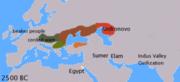 idiomas de IE 2500 aC