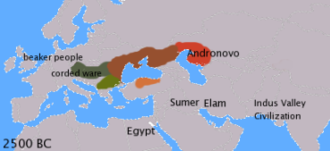 Historical Vedic religion - Indo-European languages c. 2500 BCE