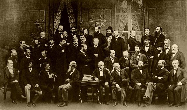 Участники II Метеорологического конгресса. Рим. 1879. Д.И.Менделеев в верхнем ряду— третий слева