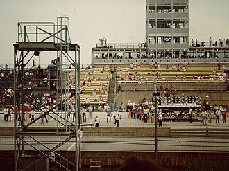 1986 Indianapolis 500 - The new victory lane, visible in 1988.