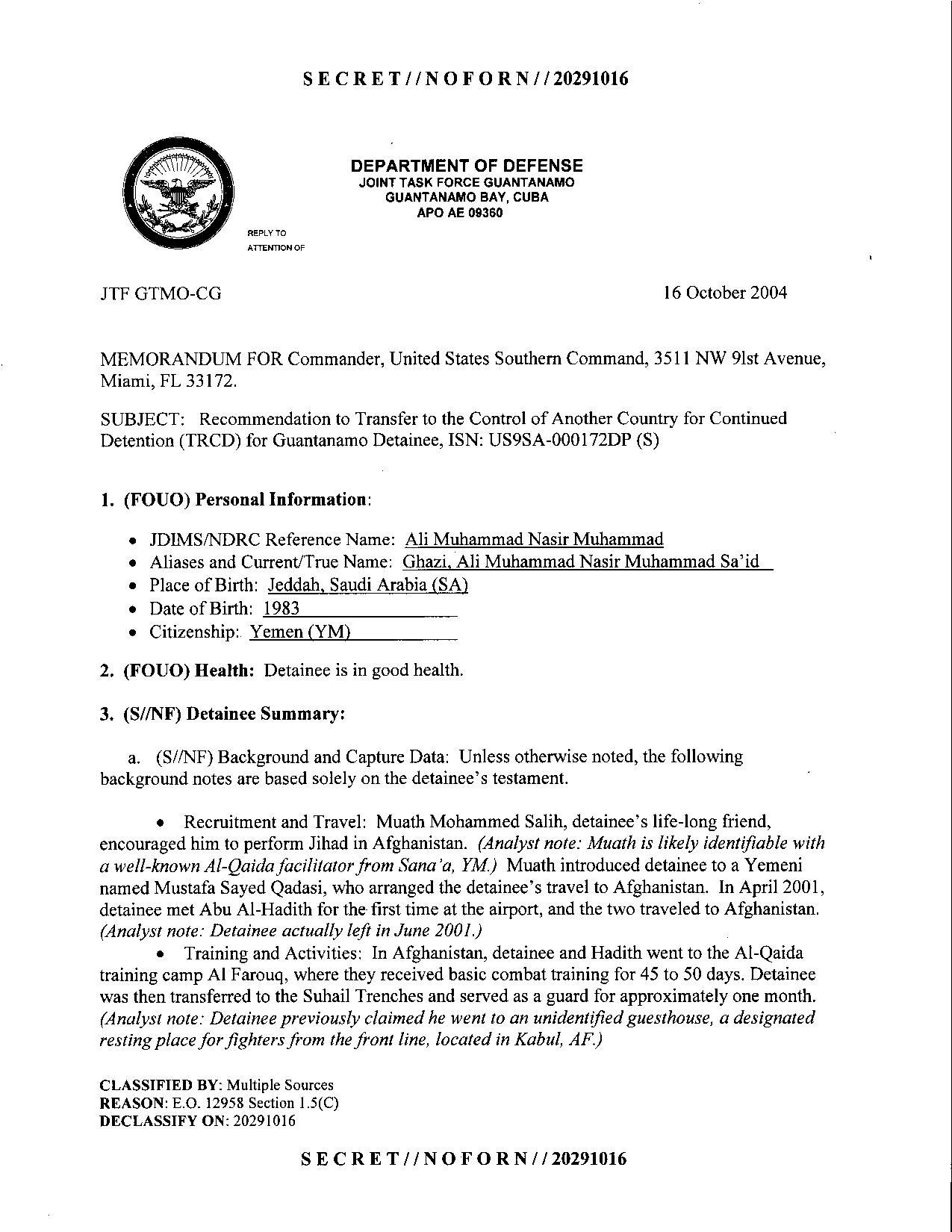 ISN 172's Guantanamo detainee assessment.pdf