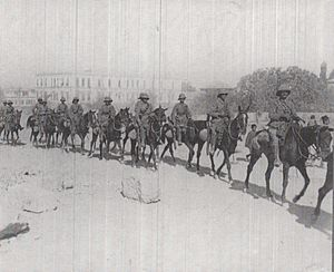 5th Cavalry Division (India) - Gloucester Yeomanry march through Damascus on 2 October 1918