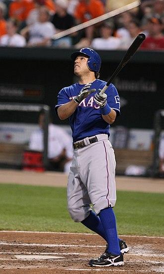 Ian Kinsler - Kinsler batting against Baltimore; April 2009