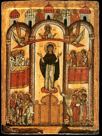 Intercession of the Theotokos - Russian icon of Pokrov