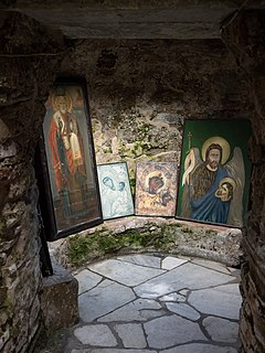 Icons in the Catacombs of Saint John.jpg