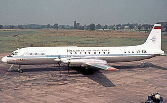 Balkan Bulgarian Airlines - A Bulgarian Air Transport Ilyushin Il-18 at Ringway Airport in 1968