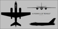 Ilyushin Il-28 Beagle three-view silhouette.png