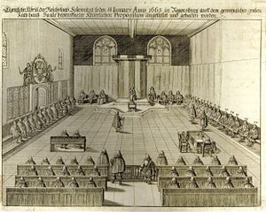 Perpetual Diet of Regensburg - The Perpetual Diet in Regensburg in 1663 (copper engraving)