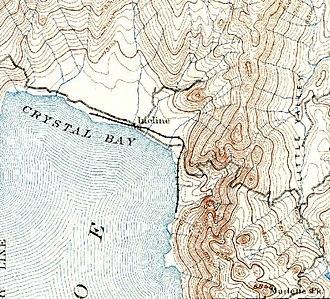 Incline Village, Nevada - Sierra Nevada Wood and Lumber Company rail line in 1891