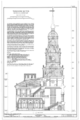 Independence Hall Complex, Independence Hall, 500 Chestnut Street, Philadelphia, Philadelphia County, PA HABS PA,51-PHILA,6- (sheet 22 of 45).png