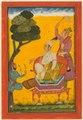 India, Pahari Hills, Bilaspur school, 18th century - Vivaca Ragaputra, a Leaf from Ragamala Series - 2011.214 - Cleveland Museum of Art.tif