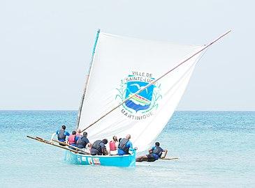 Initiation au gommier, fête de la mer, Sainte-Luce, Martinique (cropped).jpg