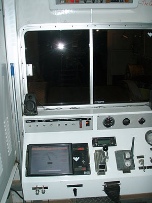 Wireline (cabling) - Inside a Wireline truck