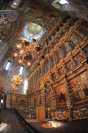 Inside of Church of Elijah the Prophet in Yaroslavl