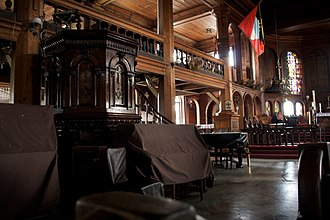 St. John's Cathedral (Antigua and Barbuda) - Image: Inside view of church
