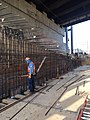 Installation of rebar at the Track A Approach Structure. (CH061A, 4-13-2018) (39620887730).jpg