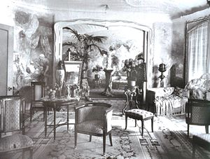 Casa Milà - Interior of Casa Milà in 1910