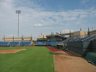 Interior of Clay Gould Ballpark