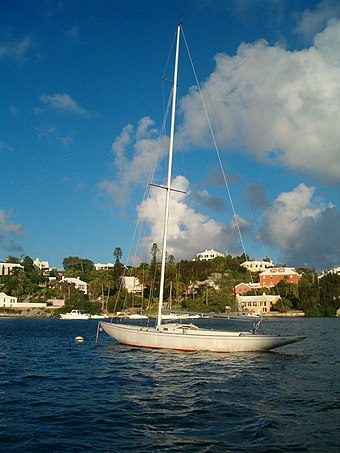 An IOD racer on a mooring in Hamilton Harbour International One Design - Hamilton Harbour - Bermuda.jpg