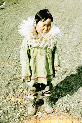 Utqiagvik, Alaska - Iñupiat child at Point Barrow circa 1960s