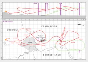 Invicta International Airlines Flight 435 - Flight path of Invicta Airlines Flight 435 according to the flight data recorder recording