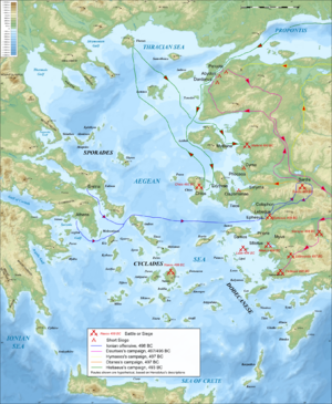 Battle of Lade - Main events of the Ionian Revolt
