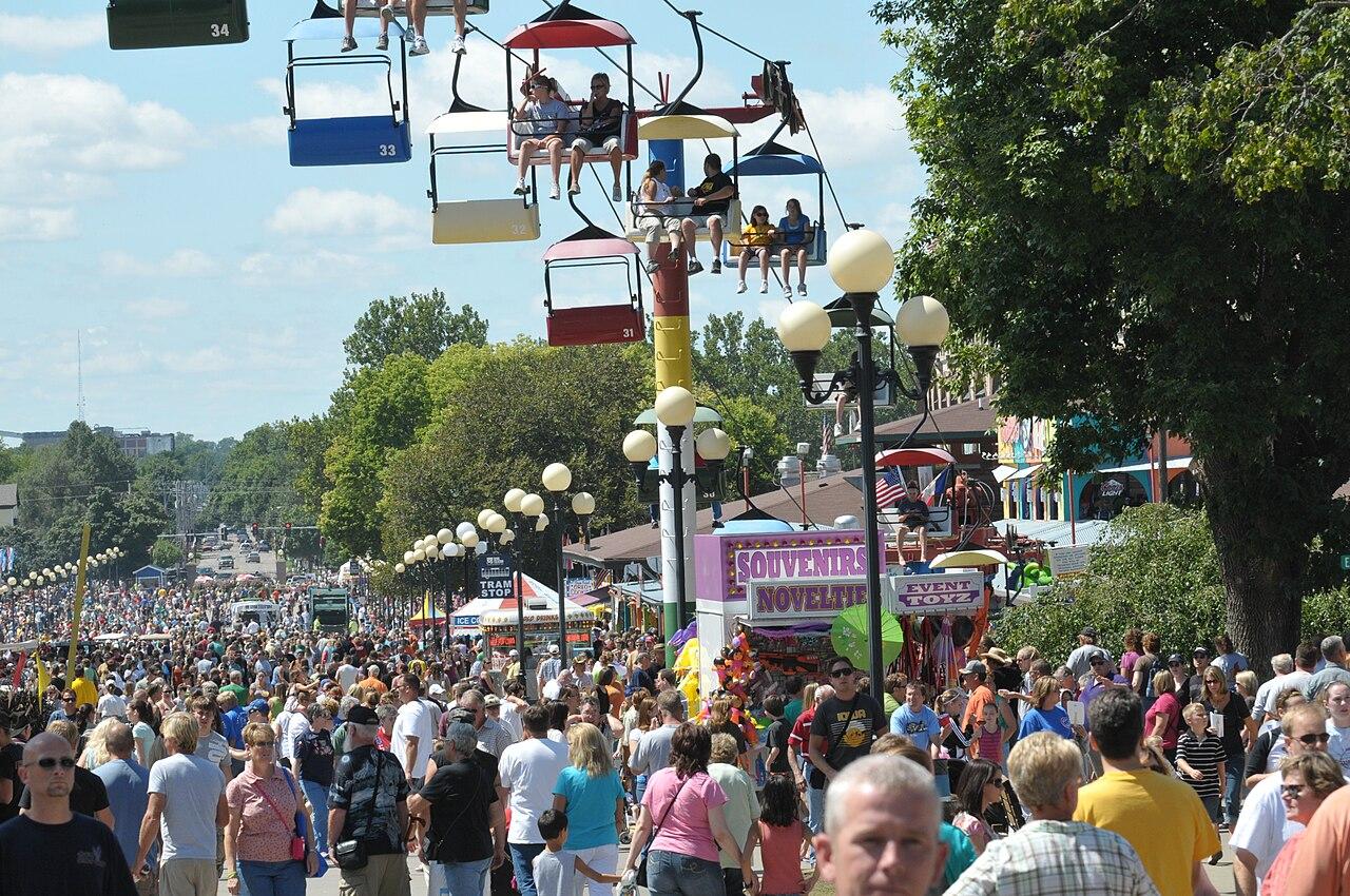 crowds at the iowa state fair credit iowa state fair