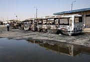 Iraq-terrorist attack on buses