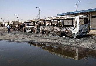 Terrorism - The Baghdad bus station was the scene of a triple car bombing in August 2005 that killed 43 people.