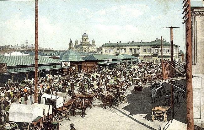 Irkutsk market, 19th century