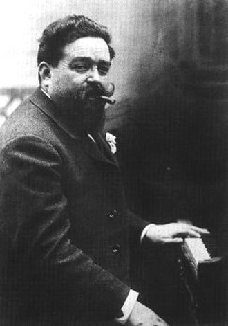 Isaac Albéniz - Albéniz at the piano, 1901