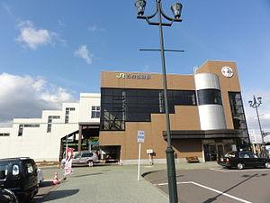 Ishikari-Tōbetsu Station - South entrance of Ishikari-Tōbetsu Station in October 2012