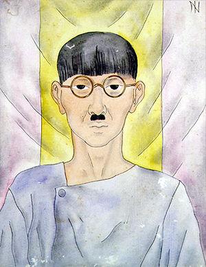 Tsuguharu Foujita - Portrait of Foujita by Ismael Nery (1930s).