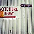 It's true. I voted in the small animal barn in Santa Fe (8151233733).jpg