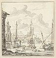 Italiaanse haven met fantasiearchitectuur, RP-T-1888-A-1518.jpg