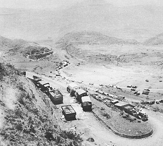 Battle of Amba Alagi (1941) - Image: Italian vehicles abandoned in Amba Alagi