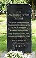 Jüdischer Friedhof Köln-Bocklemünd - Gedenkstein Alice von der Heyden (2).jpg