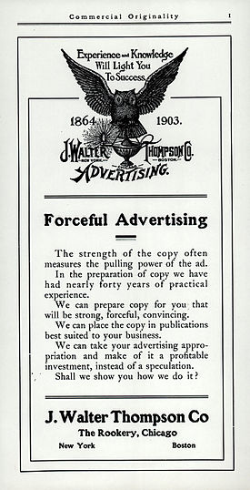 History of advertising wikipedia for Advertising companies uk