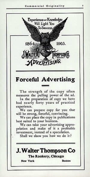 J. Walter Thompson - J. Walter Thompson Co. advertisement, 1903