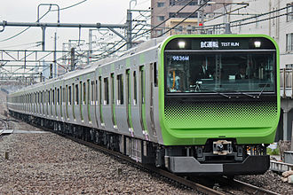 E235 series - The first, pre-series, set on a test run in April 2015