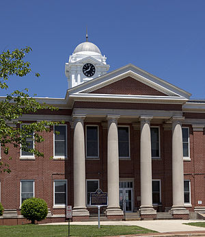 Jackson County courthouse in Scottsboro