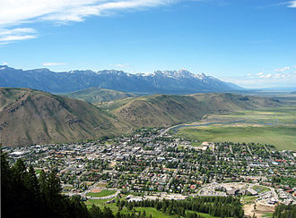 Jackson, Wyoming - View from Snow King resort in June 2007
