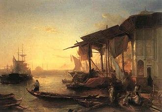 Jacob Jacobs (artist) - Merchant Vessels Off the Turkish Coast (1849)