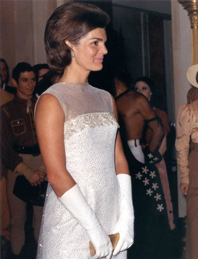 Jacqueline Kennedy after State Dinner, 22 May 1962