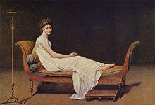 Madame Récamier in un celebre ritratto di Jacques-Louis David.