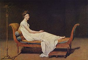 Juliette Récamier - Portrait of Madame Récamier by Jacques-Louis David (1800, Louvre)