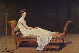 <i>Portrait of Madame Récamier</i> painting by Jacques-Louis David