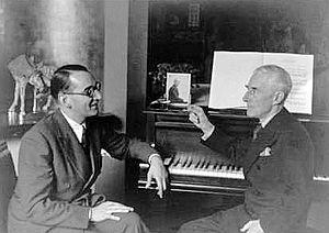 Jacques Février - Jacques Février (left) with Maurice Ravel in Paris in 1937