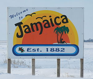Jamaica, Iowa - Image: Jamaica Iowa 20080118 Sign